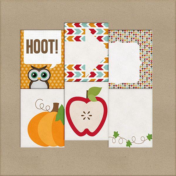 Hoot journal cards freebie from Harper Finch #projectlife #fall #halloween