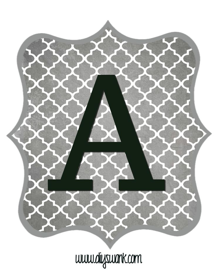 Free Printable Letters and numbers in Gray and Black. Download for free to make your own banners for any occasion.