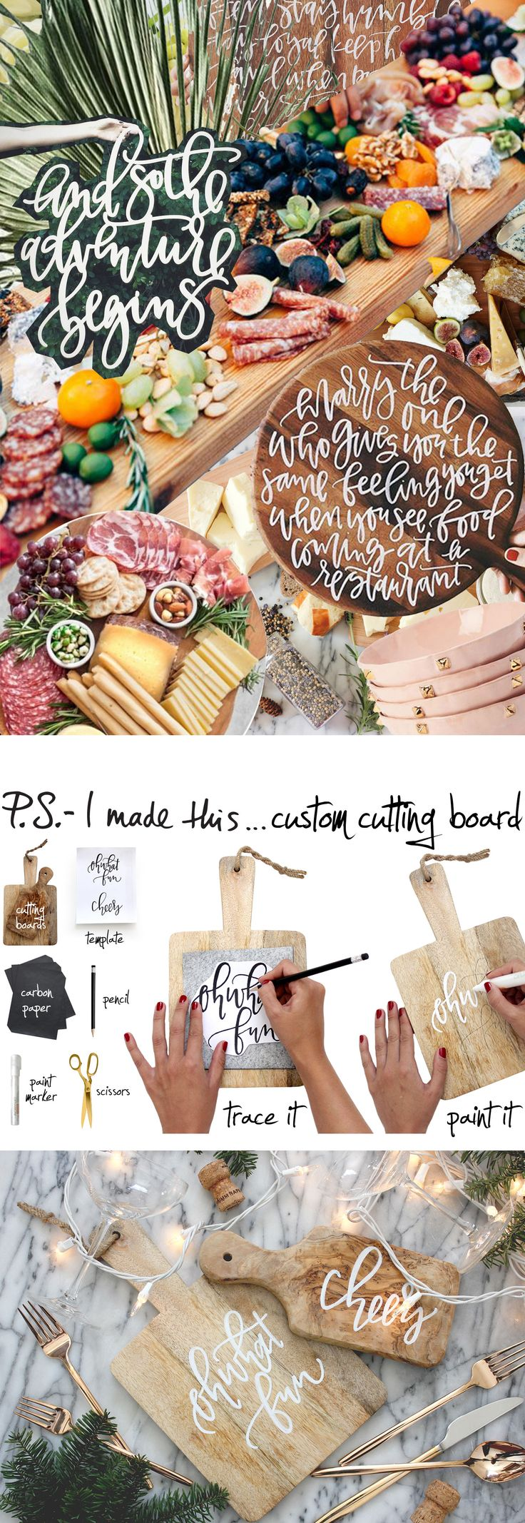 P.S.- I made this...Custom Cutting Board with @AFabulousFete #PSIMADETHIS #DIY