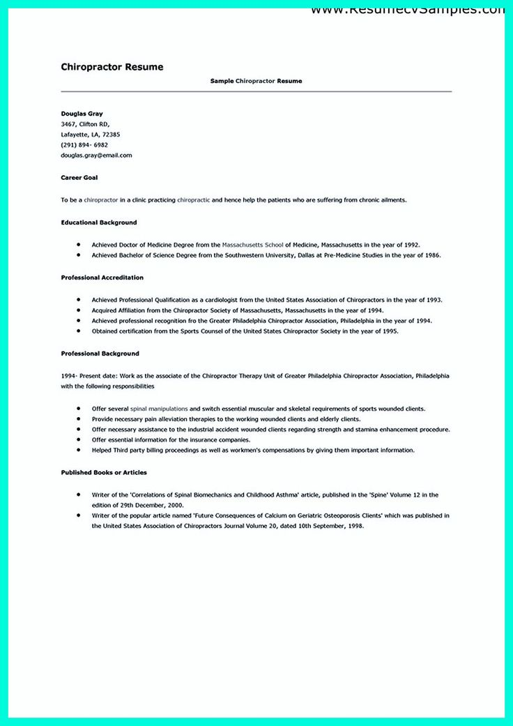 Chiropractic Assistant Resume Cover Letter For Administrative