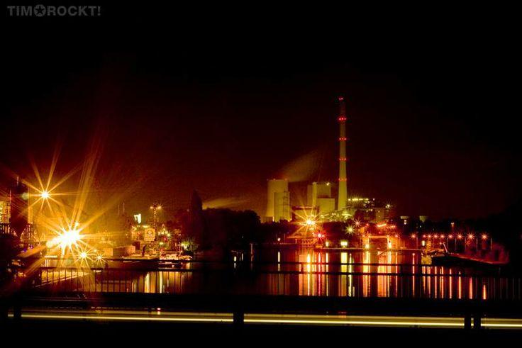 Wanne-Eickel bei Nacht