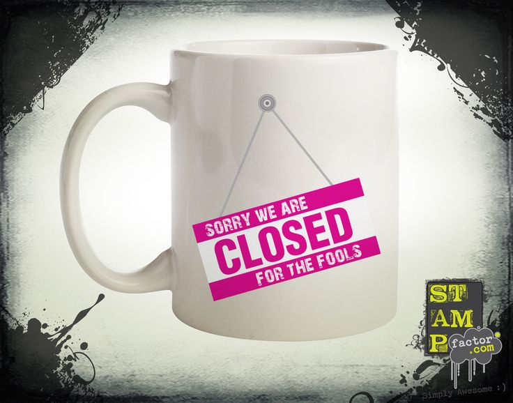 We Are Closed (Version 06) 2015 Collection - © stampfactor.com *MUG PREVIEW*