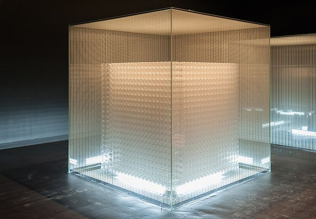 """""""Four cubes to contemplate our environment"""" (2011) at Château la Coste in Le Puy-Sainte-Réparade, France, by Tadao Ando."""