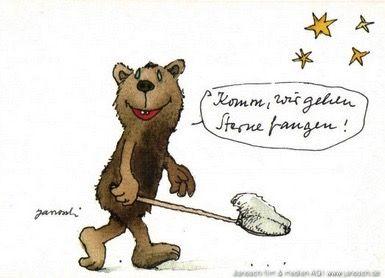 Komm, wir gehen Sterne sammeln. #Sterne, #sammeln, #Postkarte, #Janosch