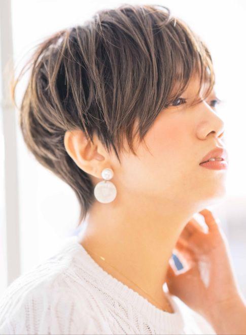 大人な骨格美フレンチショート(髪型ショートヘア)