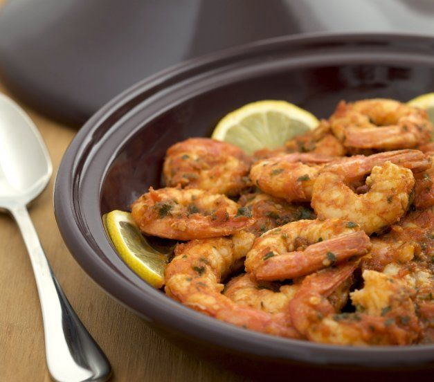 Try your hand at exotic, flavorful Moroccan cuisine with this easy shrimp tagine recipe.