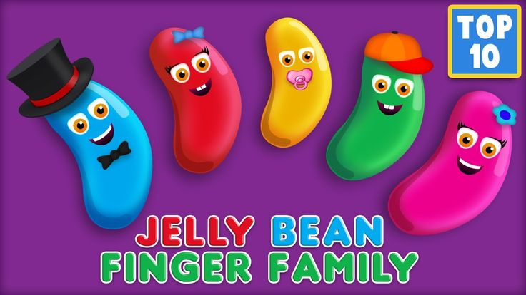 Jelly Bean Finger Family Song | Top 10 Finger Family Songs