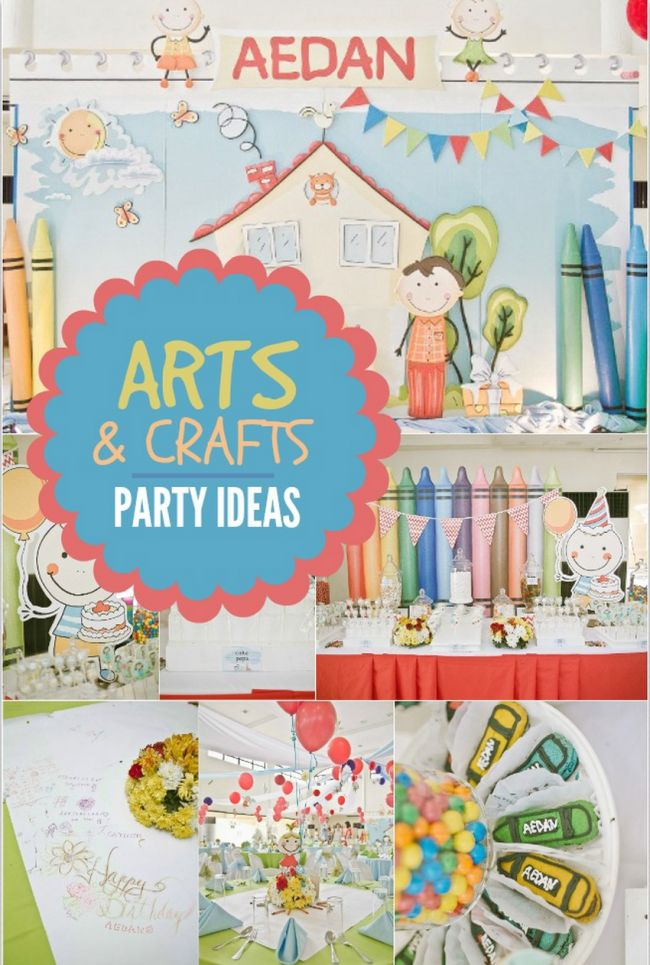Boy 39 s arts crafts birthday party ideas spaceships and for Crafts for birthday parties
