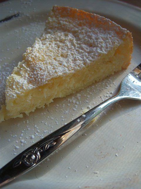 A delicious breakfast coffee cake:  lemon butter cake