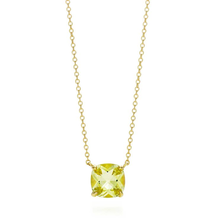 Tiffany Sparklers Yellow citrine pendant