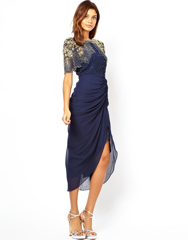 Платье миди с отделкой на плечах Virgos Lounge Denise