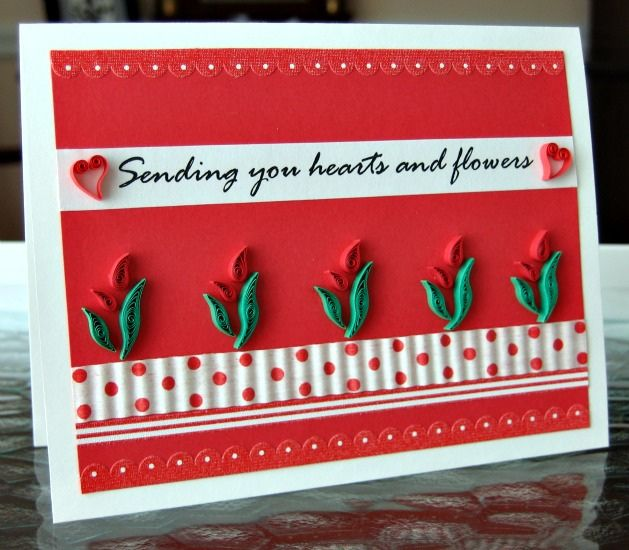 Quilled Valentine Card by all things paper, via Flickr