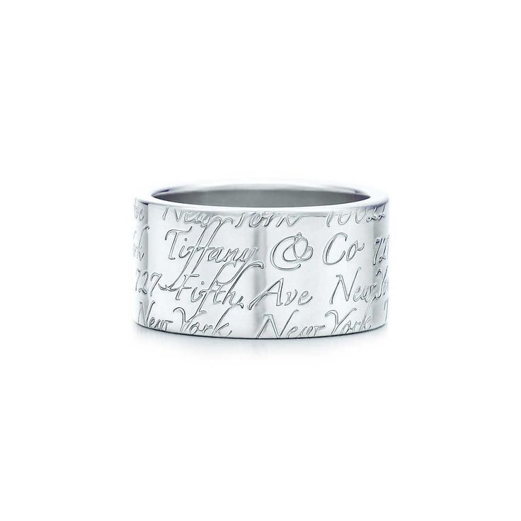 Tiffany Notes ring in sterling silver, wide. | Tiffany & Co.