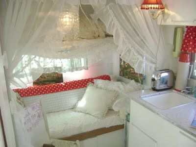 I know this is a trailer, but wouldn't it be cute to use these sheers in a little girls room? And make a tent... with string lights...