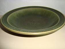 """GUNNAR NYLUND dish – RÖRSTRAND """"COLLIER"""" H: 5 cm D: 23 cm. 1931-58.   #Roerstrand #Collier #Swedish #Nylund #dish #fad #ceramics #stoneware #tilsalg #forsale on www.klitgaarden.net"""