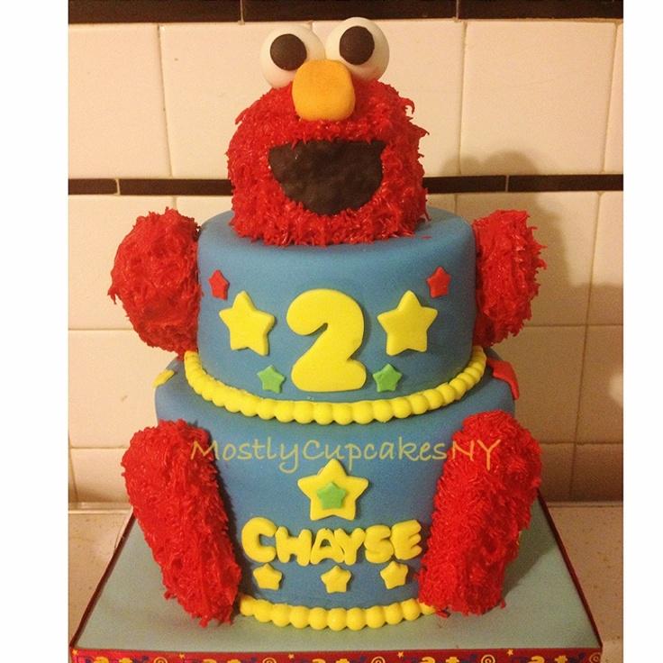 Elmo 2nd Birthday Cake. Sesame Street.