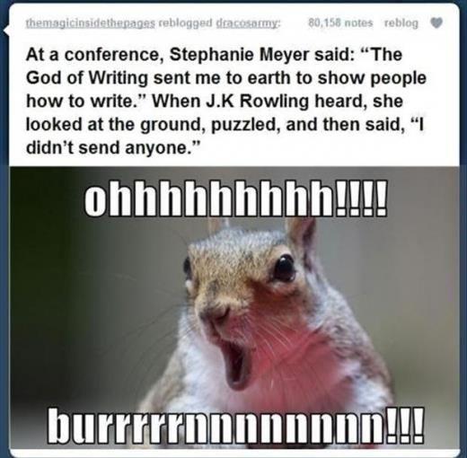 JK Rowling pwns Stephanie Meyer.