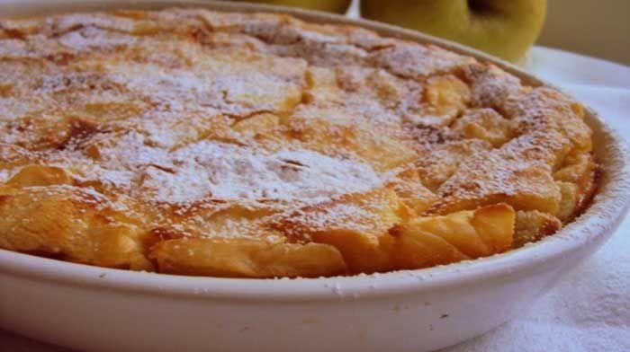 Бургундская яблочная запеканка — flamusse