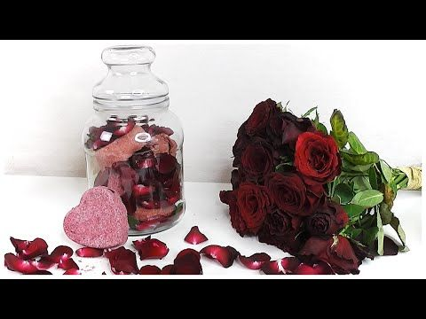 DIY Rychlý a levný dárek na Valentýn: Bomby do koupele RŮŽE/ Srdce   Mar...