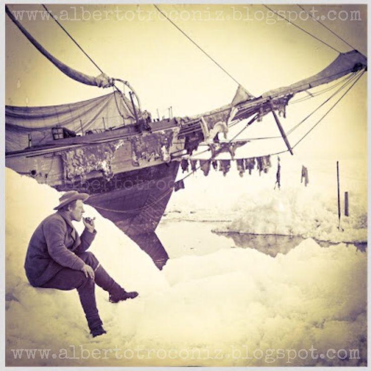 """BARCO POLAR """"FRAM""""// Este barco cruzó de polo a polo llevando en sus maderas a valientes, a exploraciones que estaban aún pendientes con el mérito de hacerlo a vela y sólo. Es la tenacidad, es la aventura, la sed constante por lo nuevo, el frío del noche-día polar, el desafío del infierno de hielo y su tortura. Mas todo es para bien si la bandera que en Ártico y Antártida ponemos, puede anunciar Admunsen, … si es que vuelve…—> http://albertotroconiz.blogspot.com.es/2016/07/barco-polar.html"""