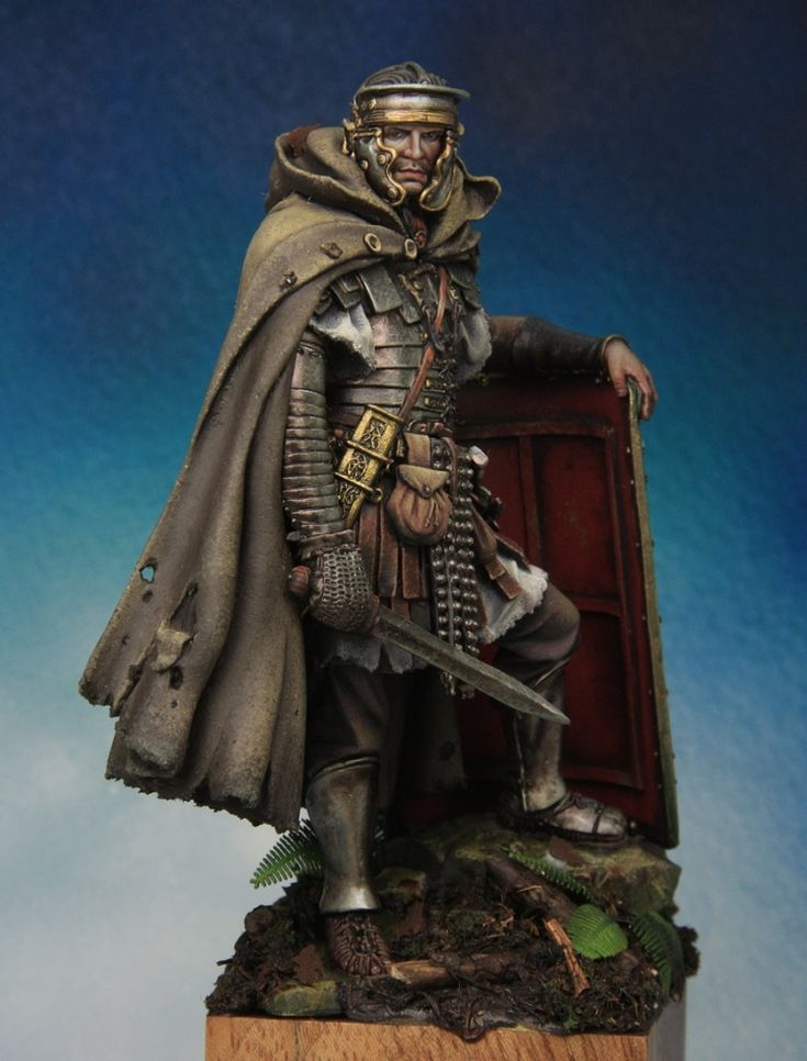Roman legionaire IIc. 90mm Andrea miniatures.