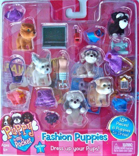 Puppy in My Pocket Fashion Puppies Series #1 by MEG. $24.99. For puppies with style, cool clothes only add to the fun! Each stylin' puppy comes with a removable fashion.