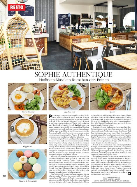 Gravity Around Me: Sophie Authentique Hadirkan Masakan Rumahan dari P...