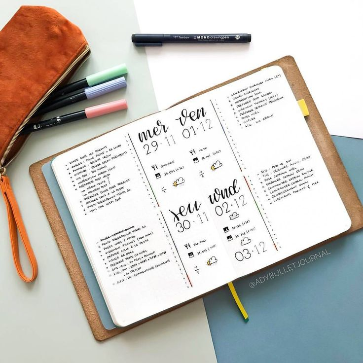 @adybulletjournal being creative with her spreads as usual