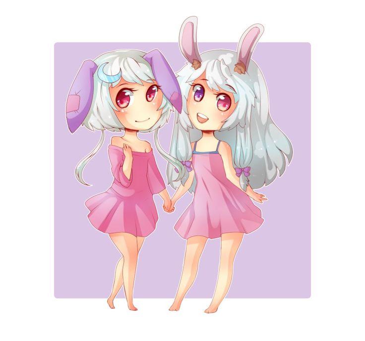 Luna and Ebla ~pc by milkyteru