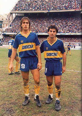 Gabriel Omar Batistuta y Diego Latorre con Boca Juniors