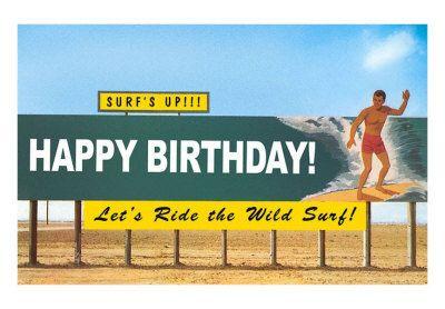 Открытки с днем рождения серферу