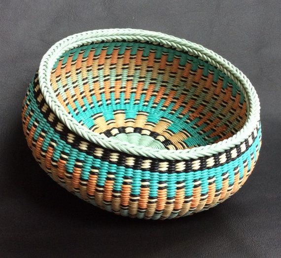 Hand Woven Basket Twined Basket Handwoven by TwistedSpokes on Etsy