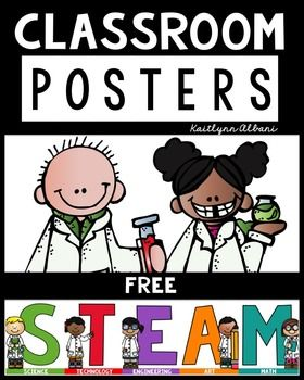 A+simple+set+of+5+posters+to+display+STEAM/STEM+in+your+classroom!Thank+you!
