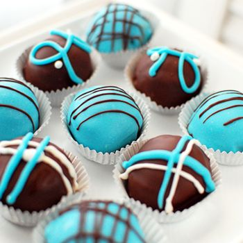 baby blue sweet cake ball food cake pop blue velvet cakes baby shower ...
