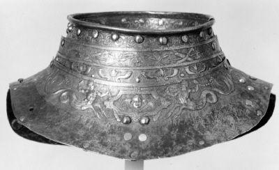 Courtesy of The Royal Armoury. // Halskrage till Erik XIV:s paradrustning. // Erik XIV's Armour neck collar (http://emuseumplus.lsh.se/eMuseumPlus?service=ExternalInterface&module=collection&objectId=62741&viewType=detailView)