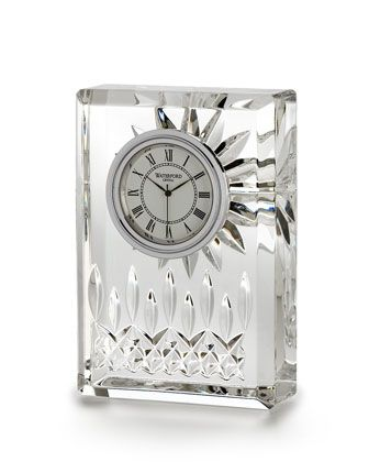 """""""Lismore"""" Clock by Waterford Crystal at Horchow."""