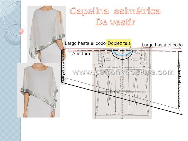 Patrón y costura : Capelina diy.Tema 199