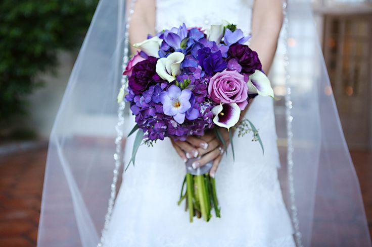 Gorgeous purple wedding bouquet (Amanda Howard (Memories Through Time))