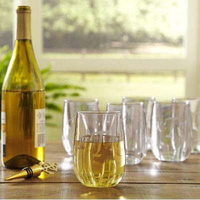 Birch Lane Monogrammed Tritan™ Outdoor Stemless Wine Glass | Birch Lane