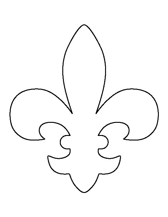 Fleur de lis pattern. Use the printable outline for crafts, creating stencils, scrapbooking, and more. Free PDF template to download and print at http://patternuniverse.com/download/fleur-de-lis-pattern/