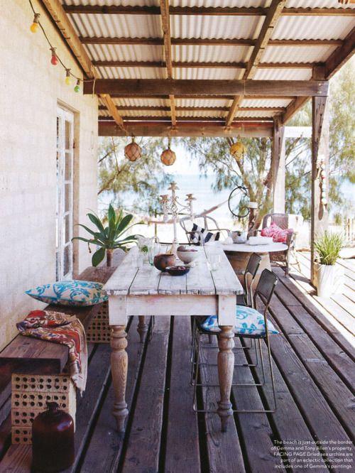 Brekkie here: Idea, Dreams Places, Beaches House, Outdoor Rooms, Outdoor Living, Patio, Back Porches, Outdoor Area, Outdoor Spaces