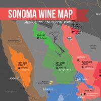 Sonoma Wine Map by Wine Folly