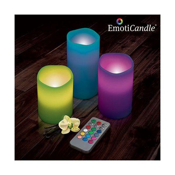 LED sviečky EmotiCandle si vás získajú svojou originalitou a pôvabom.Sviečky sú vyrobené zo skutočného vosku, so vstavaným LED svetlom a vanilkovou vôňou.