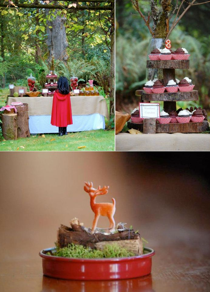 Little Red Riding Hood Birthday Party via Karas Party Ideas #storybook #party #idea
