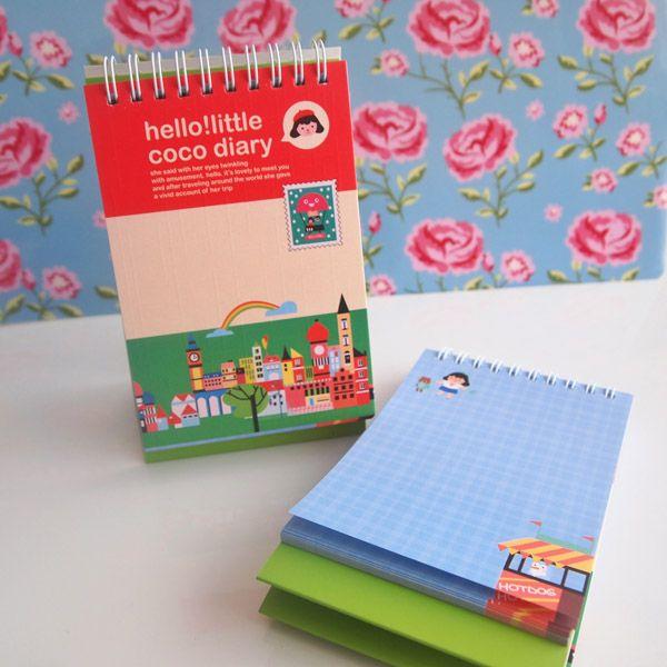 Little Coco Diary Not Defteri (Kırmızı)