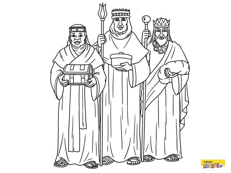 Kolorowanka Trzej Królowie Boże Narodzenie