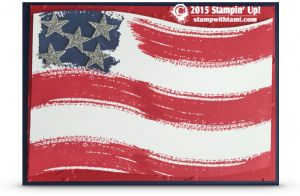 VIDEO: Work of Art – American Flag Card | Stampin Up Demonstrator - Tami White - Stamp With Tami Crafting and Card-Making Stampin Up blog