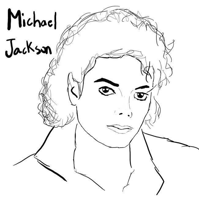 Dibujos para pintar de Michael Jackson   Colorear imágenes   cumple ...