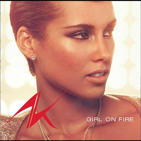 Alicia Keys – Girl On Fire (coperta single)