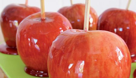 Crisp and crunchy toffee apples